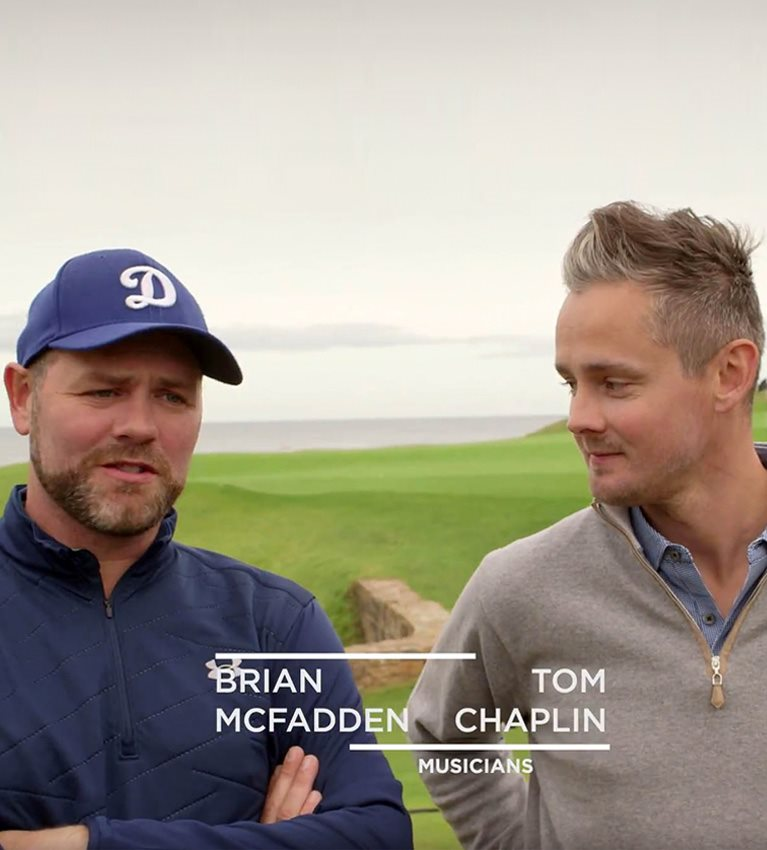 Brian McFadden and Tom Chaplin